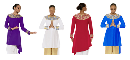 eurotard 81116 tabernacle praise tunic color swatch