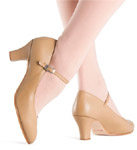 bloch s0306l ladies cabaret character shoes tan color swatch
