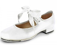 bloch s0350 ladies annie tyette tap shoes white color swatch