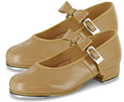 bloch s0352g girls merry jane  tap shoes bloch tan color swatch