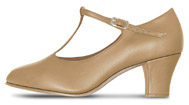 bloch s0375l ladies roxie character shoes tan color swatch
