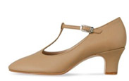 bloch s0385l ladies chord character shoes tan color swatch