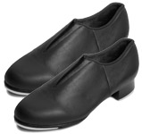 bloch s098l ladies tap-flex slip-on tap shoes black color swatch