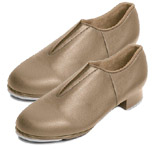 bloch s0389l ladies tap-flex slip-on tap shoes tan color swatch
