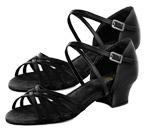 bloch s0806l annabella ballroom shoe black color swatch