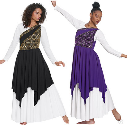 eurotard 85567 divine royalty asymmetrical tunic