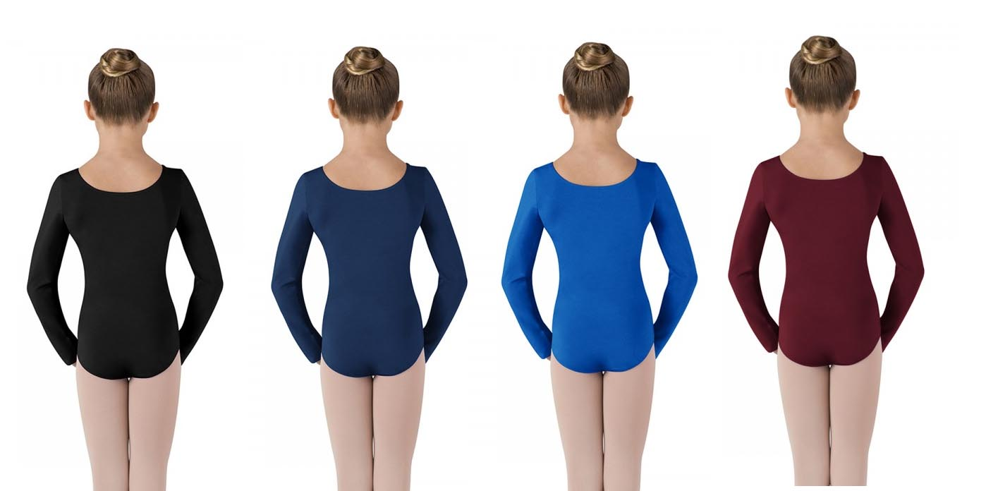 bloch cl5409 childrens long sleeve leotard color swatch 1