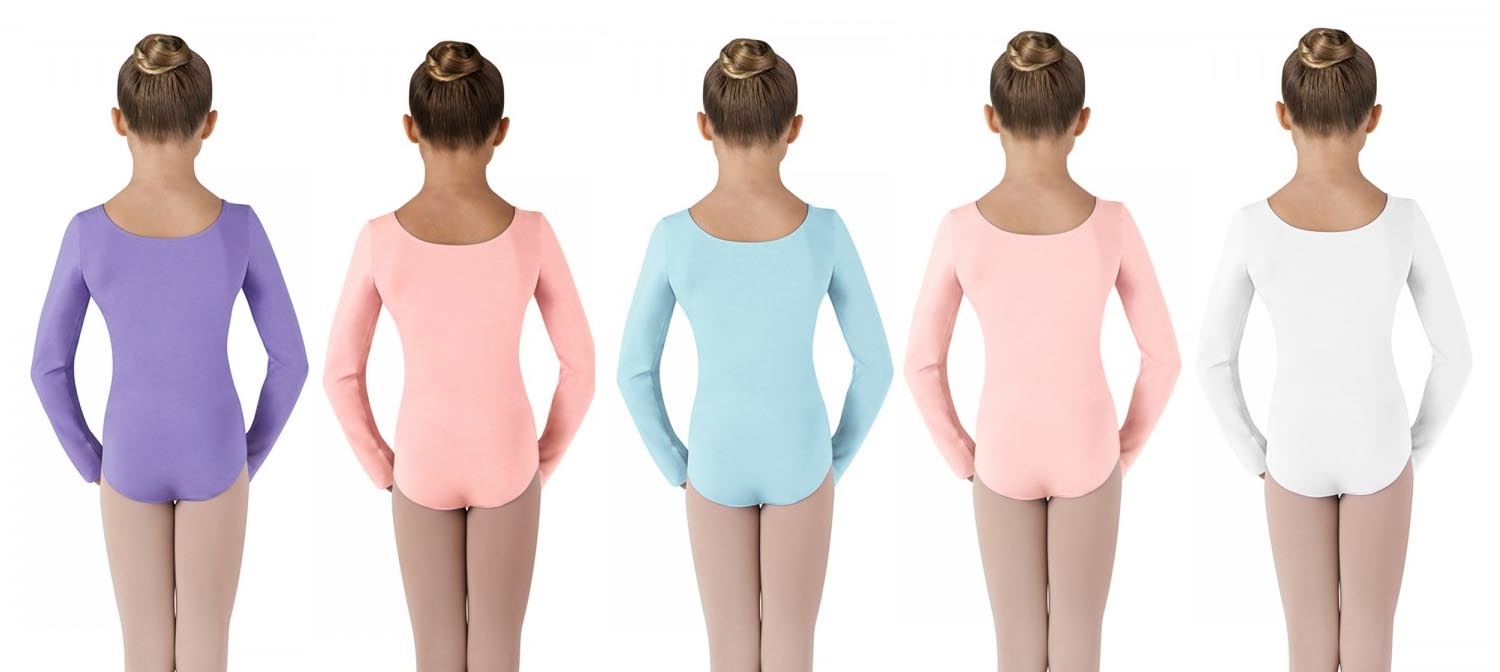 bloch cl5409 childrens long sleeve leotard color swatch 2