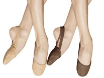 bloch s0607l revolve ladies half sole leather lyrical shoes color swatch