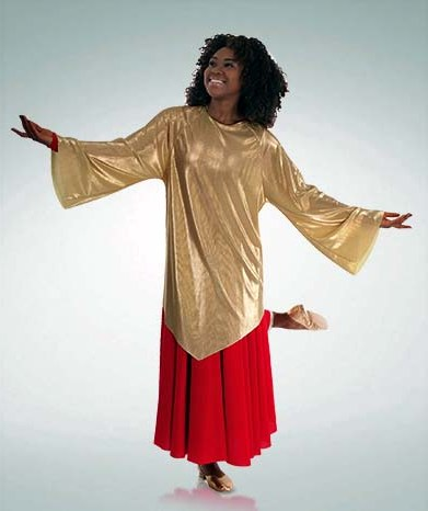 body wrappers 640 pleated tunic praise wear