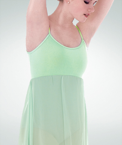 body wrappers 7799 recital magic camisole dance dress mint