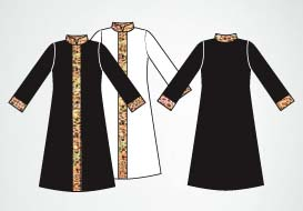 body wrappers m633 mens stain glass praise robe color swatch