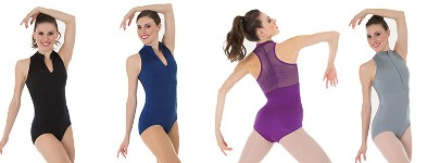 body wrappers p1002c childrens tiler peck power mesh zip front leotard color swatch