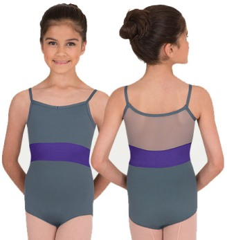 body wrappers p1012 children camisole mesh back insert leotard