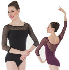 body wrappers p1044 child dotted cap sleeve leotard color swatch