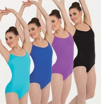 body wrappers p1072 cross back camisole leotard color swatch