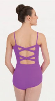 body wrappers p1072 cross back camisole leotard