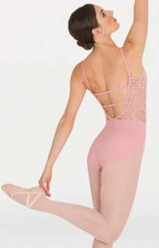 body wrappers p1101 camisole sweetheart lace leotard