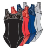 body wrappers p221 tank lace bodice leotard color swatch