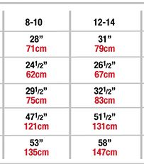 body wrappers p1104 child romantic lace skirt sizing chart