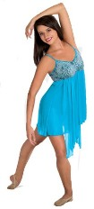 body wrappers 7560 turquoise camisole dress color swatch