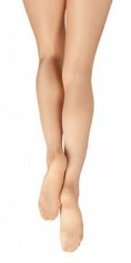 capezio 1808 ultra shimmery footed tight front back