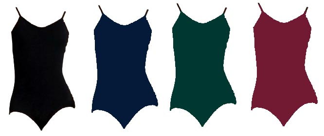 capezio cc102 vneck camisole leotard color swatch set 1