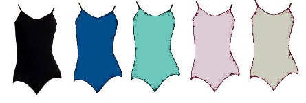 capezio mc817c meryl collection childrens diamond racerback leotard color swatch