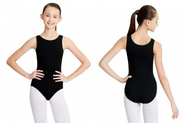 capezio cc201 classics adult high neck tank leotard front back