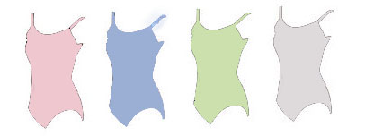 eurotard 1064 child princess seam camisole leotard color swatch 2