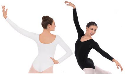 eurotard 44265p plus size long sleeve microfiber leotard color swatch 3