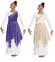 eurotard 82567 passion of faith asymmetrical tunic color swatch