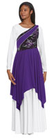eurotard 83567 opulent orchid asymmetrical tunic color swatch