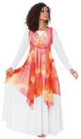 eurotard 84118 ignited glory wrap front overlay color swatch
