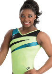 gk elite 3800 neon opal gymnastics tank leotard color swatch