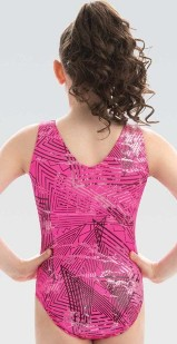 gk elite e3737 pulse v-neck gymnastics leotard