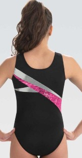 gk elite e3738 strike out gymnastics leotard center back