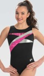 gk elite e3738 strike out gymnastics leotard color swatch