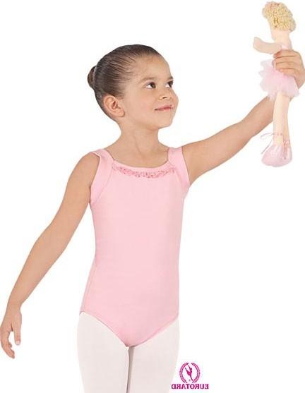eurotard 0210olivia child wide strap camisole leotard with ruffle trim