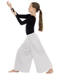 eurotard 13696c children palazzo pants with elastic waist