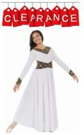 eurotard 43866 royalty praise dance dress - clearance