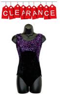 eurotard 28639 adult tank sleeve leotard with crushed velvet leotard with metallic print
