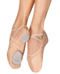 capezio 2033 cobra split sole leather ballet shoe