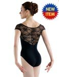 bloch l6042 bloch chiwa button back lace leotard