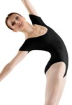 bloch l5402 basic short sleeve leotard