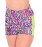 eurotard 54889c child dizzy dots contrast convertible shorts