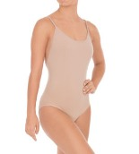 eurotard 95707 euroskins camisole leotard with clear and matching straps