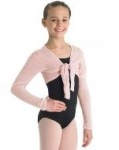 bloch cz0989 girls crop tie front top
