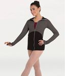 body wrappers 8510 two color zip front jacket