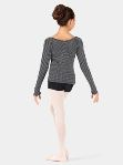 body wrappers 3392 child v-neck long sleeve sweater